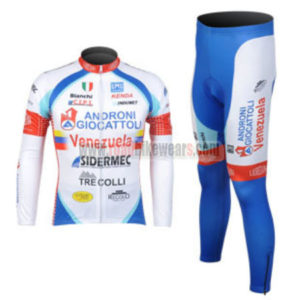 2012 Team ANDRONI Cycle Outfit Biking Long Sleeves Jersey and Padded Pants  Tights Roupas De Ciclismo ba54a4589