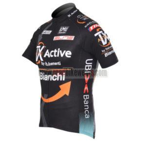 2012 Team BIANCHI Cycle Jersey Shirt ropa de ciclismo Black