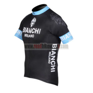 2012 Team BIANCHI Cycle Jersey Shirt ropa de ciclismo Black Blue