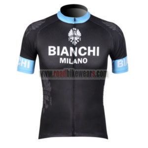 2012 Team BIANCHI Cycling Jersey Shirt maillot cycliste Black Blue