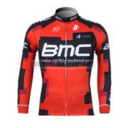 2012 Team BMC Cycling Long Sleeve Jersey Red Black