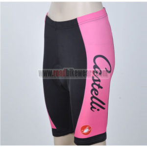 2012 Team CASTELLI Women Cycle Shorts Pink Black