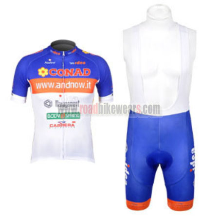 413d53577 2012 Team CONAD Riding Outfit Cycle Jersey and Padded Bib Shorts Roupas  Bicicleta Blue White