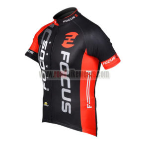 2012 Team FOCUS Cycle Jersey Shirt maillot cycliste Black Red