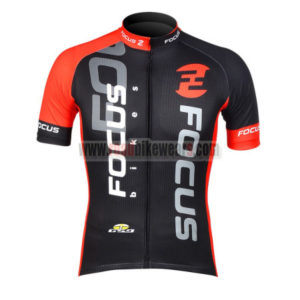 2012 Team FOCUS Cycle Apparel Biking Jersey Top Shirt Maillot Cycliste  Black Red  9bb00aa5a