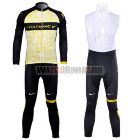 2012 Team LIVESTRONG Winter Cycle Apparel Thermal Fleece Biking Long ... c60c398b8