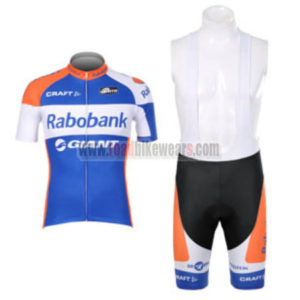 2012 Team Rabobank Riding Outfit Cycle Jersey and Padded Bib Shorts Roupas  Bicicleta Blue afcac5bcd