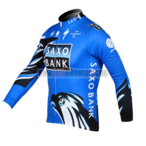 2012 Team SAXO BANK Cycle Long Sleeve Jersey Blue