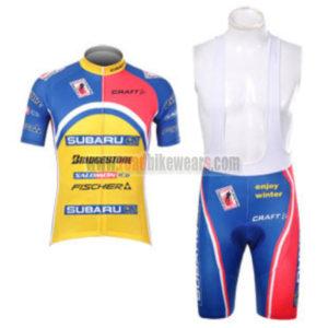 2012 Team SUBARU Cycling Bib Kit Blue Yellow Pink 69110b876