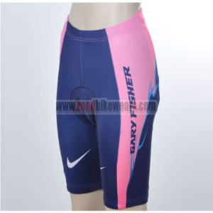 2012 Team SUBARU Women Cycle Shorts Pink Blue