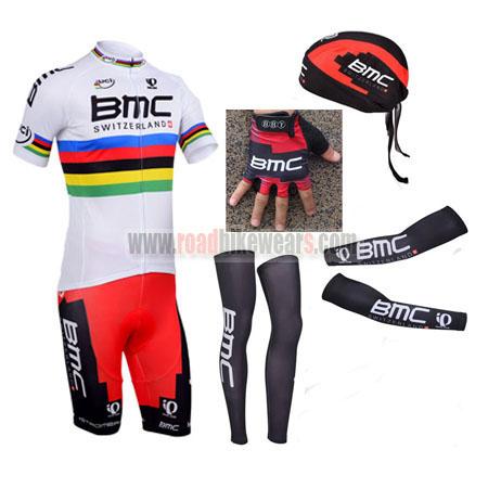 2013 Team BMC UCI Champion Biking Clothing Cycle White Rainbow ... 9d792fbc4