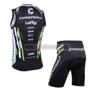 2013 Team Cannondale Cycle Vest Tank Top Jersey Kit Black