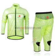 2013 Team Castelli Cycling Windbreaker Kit Green Waterproof