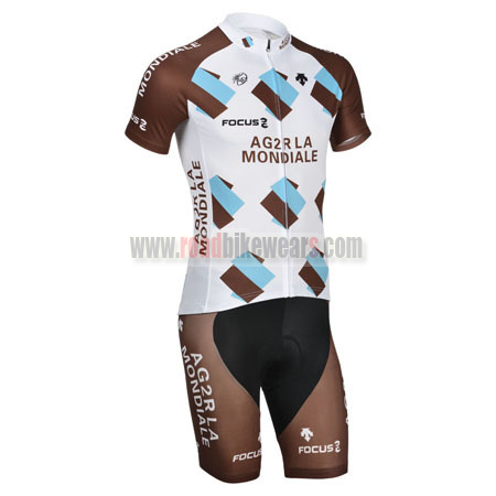 2014 Team AG2R LA MONDIALE FOCUS Riding Outfit Cycle Jersey and ... 30e451beb