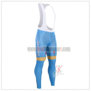 2015 Team ASTANA Cycling Long Bib Pants Blue