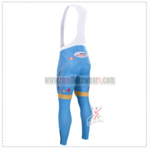 2015 Team ASTANA Riding Long Bib Pants Blue