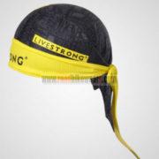 2012 Team LIVESTRONG Cycling Bandana Head Scarf Black Yellow