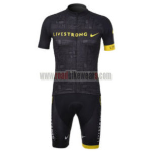 2012 Team LIVESTRONG Riding Outfit Cycle Jersey and Padded Shorts Roupas  Bicicleta Black 0303b2a55