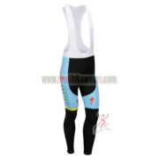 2013 Team ASTAN Cycling Long Bib Pants Blue Black