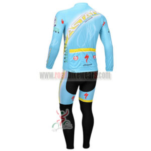 2013 Team ASTANA Pro Bicycle Long Kit Blue Black