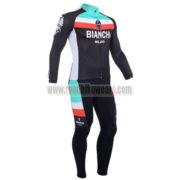 2013 Team BIANCHI Cycling Kit Long Sleeve