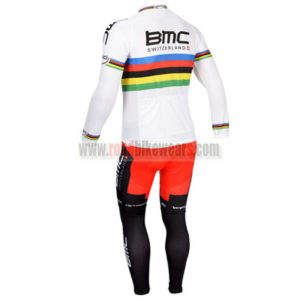 2013 Team BMC UCI Riding Long Kit White