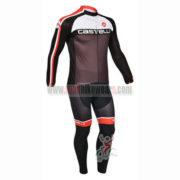 2013 Team CASTELLI Pro Cycling Long Sleeve Jersey Kit White Black