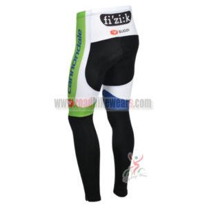 2013 Team Cannondale Biking Long Pants White Blue