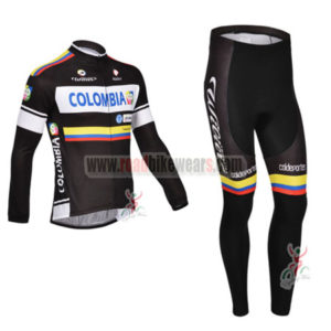 2013 Team Colombia Pro Cycling Long Kit