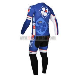 2013 Team FDJ Bicycle Long Kit Blue Black