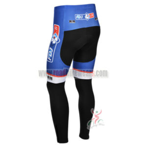 2013 Team FDJ Bicycle Long Pants Blue Black