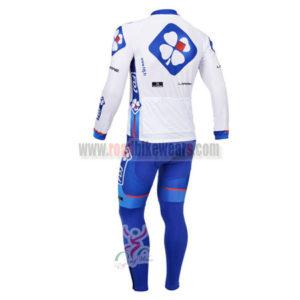2013 Team FDJ Riding Long Kit White Blue