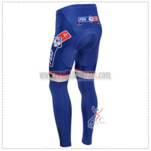 2013 Team FDJ Riding Long Pants Blue