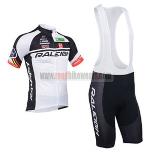 2013 Team RALEIGH Riding Outfit Cycle Jersey and Padded Bib Shorts Roupas  Bicicleta 33e255c12