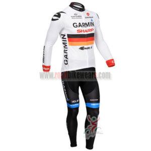 2013 Team GARMIN Cycle Long Kit White