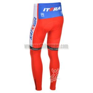 2013 Team KATUSHA Pro Bike Long Pants Red