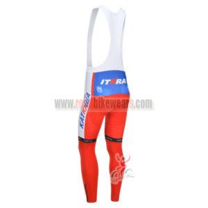 2013 Team KATUSHA Pro Cycle Long Bib Pants Red