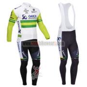 2013 Team ORICA GreenEDGE Cycling Long Bib Kit White Green