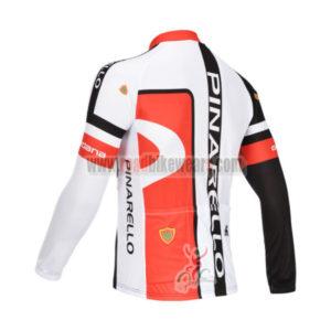 2013 Team PINARELLO Riding Long Jersey Black Red 668047b80
