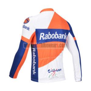 2013 Team RABOBANK Bicycle Long Sleeve Jersey Orange Blue