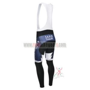 2013 Team SAXO BANK Biking Long Bib Pants Dark Blue