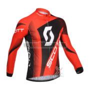 2013 Team SCOTT Cycling Long Jersey Red Black