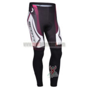 2013 Team SCOTT Cycling Long Pants White Black Purple