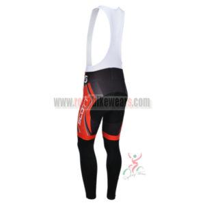 2013 Team SCOTT Riding Long Bib Pants Red Black