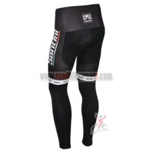 2013 Team Santini Bicycle Long Pants Black White