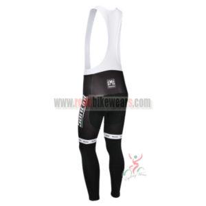 2013 Team Santini Riding Long Bib Pants Black White