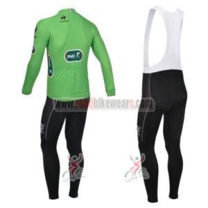 2013 Tour de France Pro Cycling Long Sleeve Green Jersey Bibs Kit