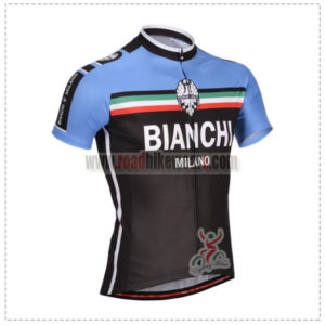 2014 Team BIANCHI Cycling Jersey Black Blue ... fb30e6252
