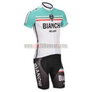 2014 Team BIANCHI Cycling Kit White Green