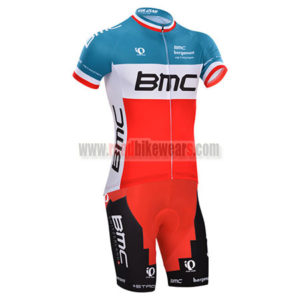 2014 Team BMC Riding Clothing Cycle Jersey and Padded Shorts Roupas  Bicicleta Blue Red c5094ceda